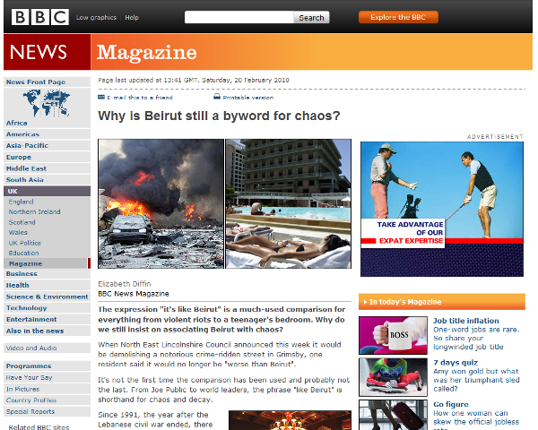 BBC News – Why is Beirut still a byword for chaos?