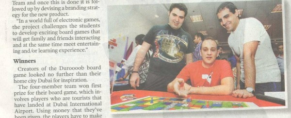 Gulf News: A Fun and Games MBA — Click for Full Clipping